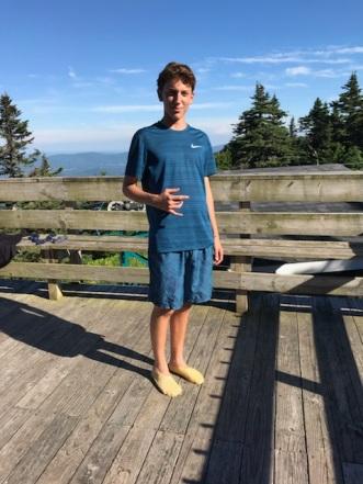 Wearing moccasins